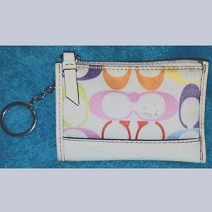 Coach Multi Color Keychain Mini Wallet